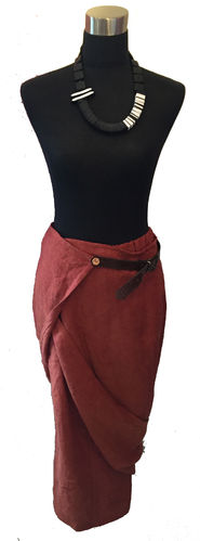 Wrap skirt Terracotta 8004