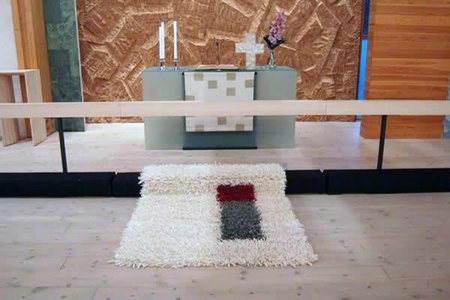Wedding rya rug in Laajasalo church, Helsinki.\\n\\n12/02/2016 9:50 PM